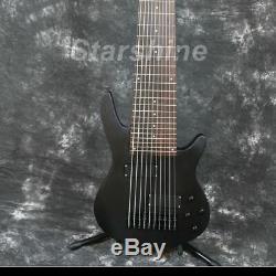 10 Strings Electric Bass Guitar YL-10BB Matt Metal Black Black Hardware Fixed