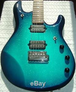 2001 Ernie Ball Music Man John Petrucci Original Blue Dawn Sparkle 6 String