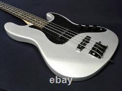 3/4 Haze HSJB 19580MSBH Silver-Grey 4-String Electric Jazz Bass Guitar +Free Bag