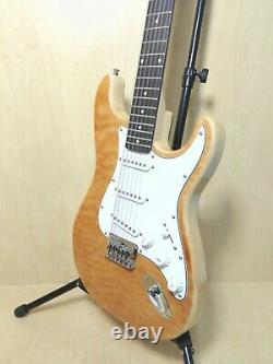 4/4 Haze HSST 10S 12-String Electric Guitar, S-S-S, Quilted Natural +Free Gig Bag