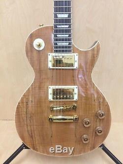 4/4 Haze SEG-227 Solid Body Les Paul Guitar, Spalt Maple Graphic +Gig Bag+Strings