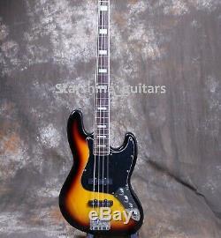 4 Strings Jazz Bass Active Circuit Cell Box Gloss Sunburst Basswood Body