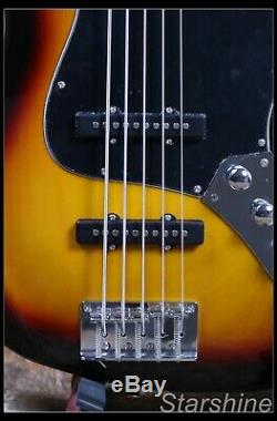5 String Electric Jazz Bass Basswood Body Rosewood Fingerboard 3TS Color