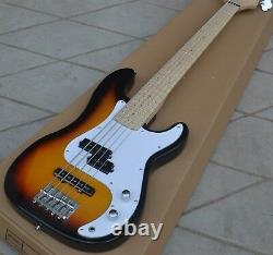 5 Strings Electric Bass Guitar, Maple Fingerboard With LED Light, Sunburst