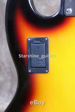 5 Strings Jazz Bass Guitar Active Circuit Cell Box Gloss Sunburst Basswood Body