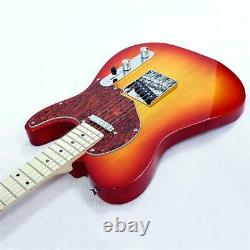 6 String Electric Guitar Alnico Sound Voice Pick Up Dawn Orange with Bag