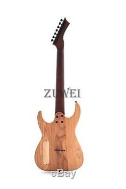 7 Strings Thru Body Counter Headstock Elecrtric Guitar Ash Body Matt Finish