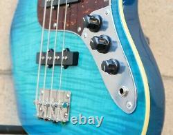 AIO JB4 4 String Jazz Bass Blue Burst withgig bag