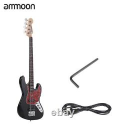 Ammoon Solid Wood 4String Electric Bass Guitar Basswood Body+Cable+Wrench M5X2