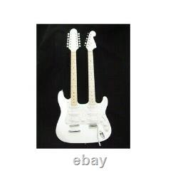 B-Stock Zenison Double Neck Electric Guitar White 12 String & 6 String