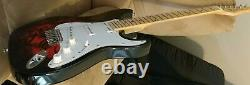 Black& Red S-Style Electric Guitar, Maple fretboard 6 string Strat. Water transfer