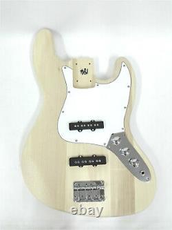 Complete No-Soldering 4-String Haze Bass Guitar DIY Kit, S-S Pickups, HSJB 19580
