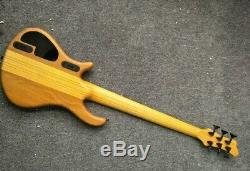 Custom 6 strings bass yellowburst Active pickups electric 6 Strings FENGERBOARD