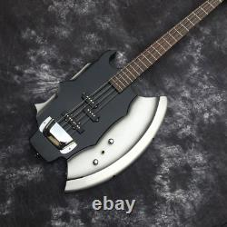 Custom Compatible, 4 String Black Axe Electric Bass Guitar, G. S Series