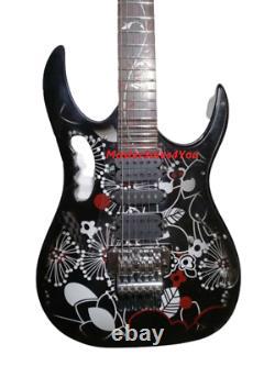 Custom JEM77 FP2 Steve Vai Signature Electric Guitar Black Flower 6 String