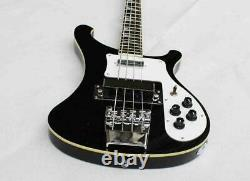 Custom RiCken 4 Strings Black Left handed Electric Bass Guitar Chinese Eddition