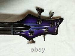 DEAN Edge 3 4-string BASS guitar NEW Electric Purple Metallic Burst with HARD CASE
