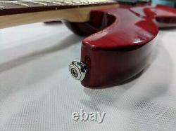 ESP LTD B-204FM 4-String Active Electric Bass Guitar See-Thru Red