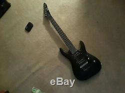 ESP LTD MH-17 7-String Electric Guitar Satin Black