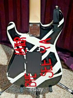 EVH Striped Series circles Guitar 6 string electric guitar DEAD MINT! Ultra rare