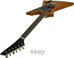 Electric 6 String Guitar Full Size Right Handed Explorer Style Solid Wood Body