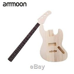 Electric Bass DIY Kit Set JAZZ Bass Style Solid Basswood Body Maple Neck 4String