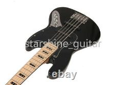 Electric Bass Guitar 5 Strings Maple Neck&Fretboard Black Inlay Chrome Hardware
