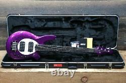 Ernie Ball Music Man Bongo 5 HH Fuschia Sparkle 5-String El. Bass withCase #F91511