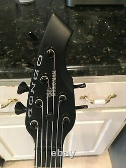 Ernie Ball Music Man Bongo 6 string Bass HH Stealth Black Minty and Awesome