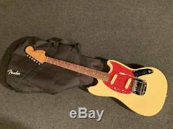 Fender Japan MG69-65 YWH/R 1969 Mustang Guitar Free-Shipping Used MIJ 6 String