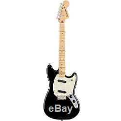 Fender Mustang 6-String Electric Guitar Black, New