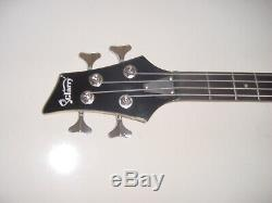 Full Size 4 String Rock Style Electric Bass Guitar Black with Gig Bag