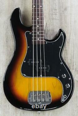 G&L Tribute LB-100 4-String Electric Bass, Brazilian Cherry 3-Tone Sunburst