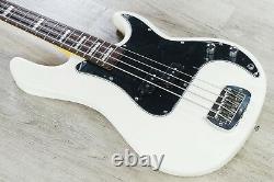 G&L Tribute LB-100 4-String Electric Bass, Brazilian Cherry Board-Olympic White