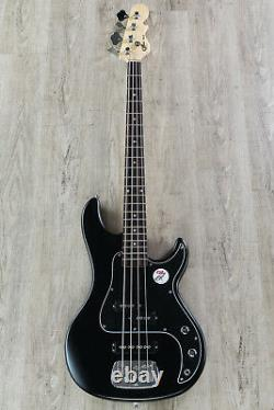 G&L Tribute SB-2 4-String Electric Bass, Brazilian Cherry board Black Frost