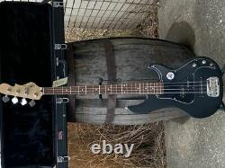 G&L Tribute SB2 4 String Electric Bass Guitar Black Satin with Hard Case