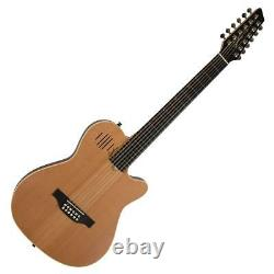 Godin A12 12-String Electro-Acoustic Guitar with Bag, Natural Semi Gloss #025343