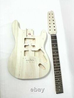 HSST 1910S Complete No-Soldering 12-String Electric Guitar DIY Kit, S-S-S Pickups