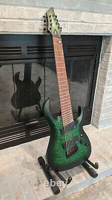 Harley Benton FanFret-8 NT Progressive QEB 2018 Green 8 String Guitar Multiscale