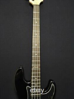 Haze 4-String Electric Bass Guitar, Gloss Black +Free Gig Bag. HSPB 1901BKBH