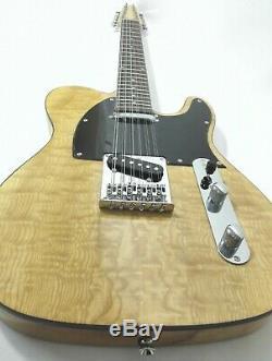 Haze HSTL-100BNA-12S 12-String Electric Guitar, Natural Quilted Top+Free Gig Bag