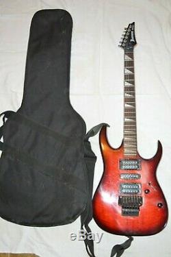 IBANEZ RG EX SERIES 6 STRING ELECTRIC GUITAR FLOYD ROSE TREMOLO RED BLACK WithCASE