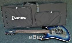 IBANEZ RG1027PBF-CBB PREMIUM 7 string SOLID BODY GUITAR Poplar Burl DIMARZIO Pu