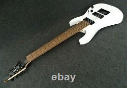 IBANEZ RG8-WH 8 STRING ELECTRIC GUITAR incredible METAL monster tone AXE white