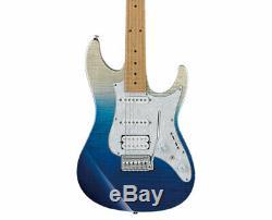 Ibanez AZ Premium 6 String Guitar withGig Bag Blue Iceberg Gradation Used