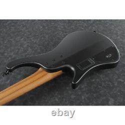Ibanez EHB1005BKF EHB Ergo Headless 5-String Bass Guitar, Black Flat