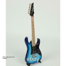 Ibanez GIO RG miKro GRGM21M 6-String Electric Guitar Blue Burst SKU#1318419