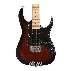 Ibanez Mikro 6-String Solid-Body Electric Guitar (Right-Hand, Walnut Sunburst)