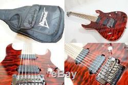 Ibanez Premium RG827QMZ Red Desert 7 string guitar