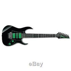 Ibanez Premium UV70P Black Green BK Steve Vai 7-String Electric Guitar + Case UV